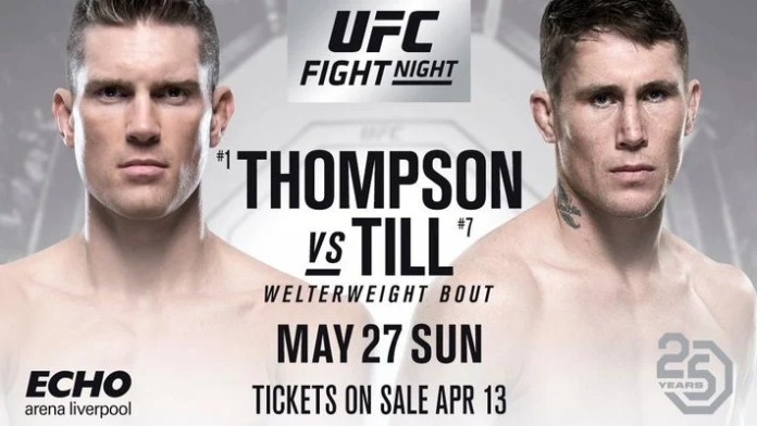 Till Vs Thompson Ufc Fight Night  In Liverpool