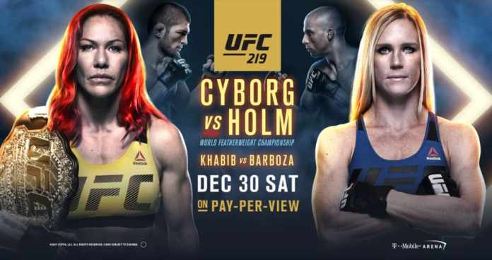 Avancronica UFC 219: Cyborg vs Holm și Nurmagomedov vs Barboza
