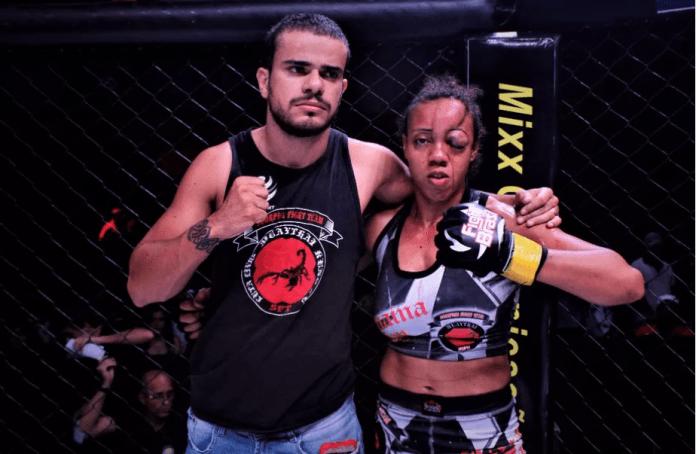 IMAGINI ȘOCANTE: O luptătoare de MMA a pierdut prin KO tehnic din cauza unui hematom imens!