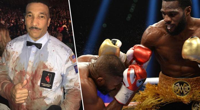 VIDEO. Badou Jack a suferit una dintre cele mai urâte tăieturi din box. L-a umplut pe arbitru de sânge!