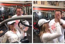 VIDEO. Vezi cum o antrenează Arnold Schwarzenegger pe Nadia Comăneci