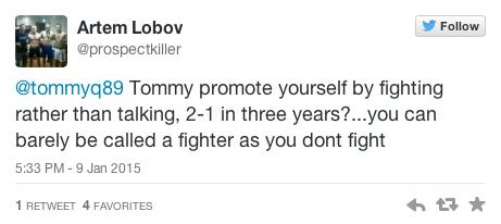 Artem Lobov tweet