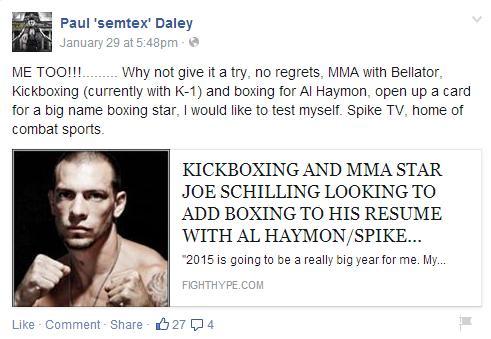 Paul Daley boxing