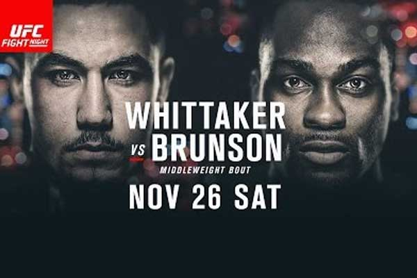 UFC Fight Night 101 Melbourne Australia Whittaker Brunson