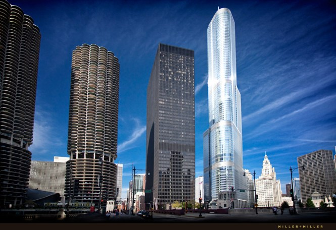 Chicago Architectural Photographer High Rises Skyser Trump International