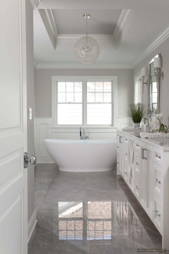 Inspiring Room: White Monochromatic Elegant Classic Master ... on Monochromatic Bathroom Ideas  id=55674
