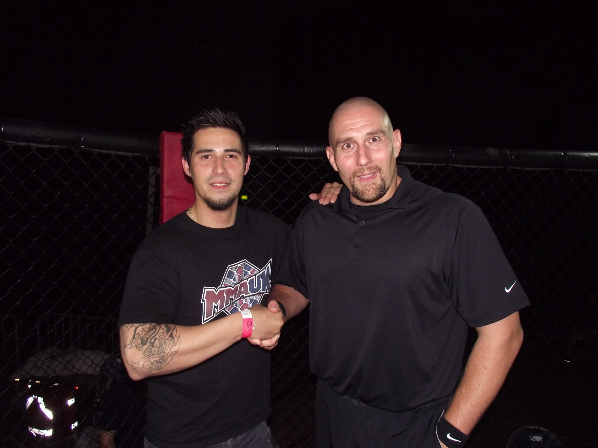 Geoffro from MMA UK and Leon Roberts Pro MMA Referee