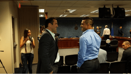 Chael Sonnen and Vitor Belfort at NSAC
