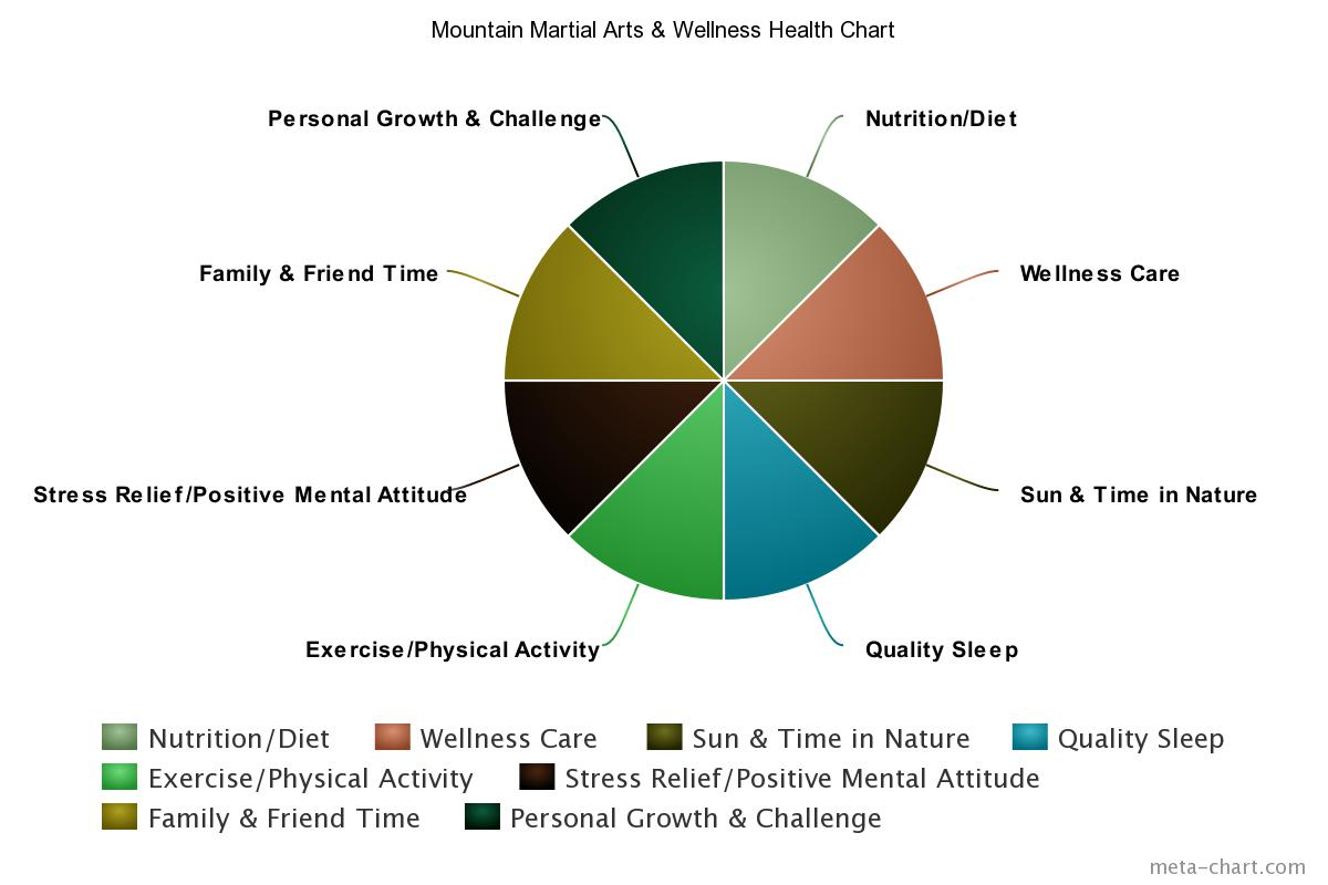 Health Chart Mountain Martial Arts Wellness Diagram Of Mountai