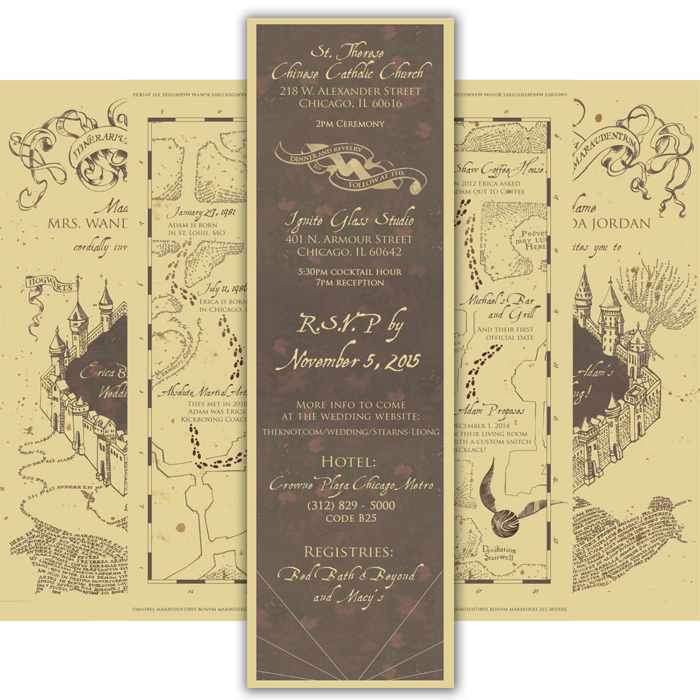 Harry Potter Wedding Invitations Template Popular Wedding