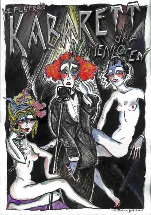 Poster disegnato da me per la seconda edizione del Kabarett.