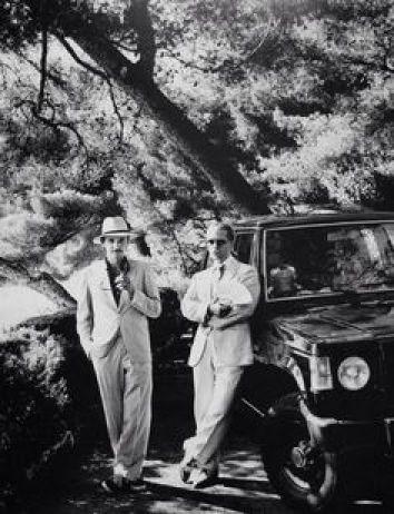 Jacques de Bascher e Karl Lagerfeld in una foto di Newton,