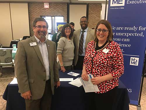 MME Champions Profession at GVSU Career Fair