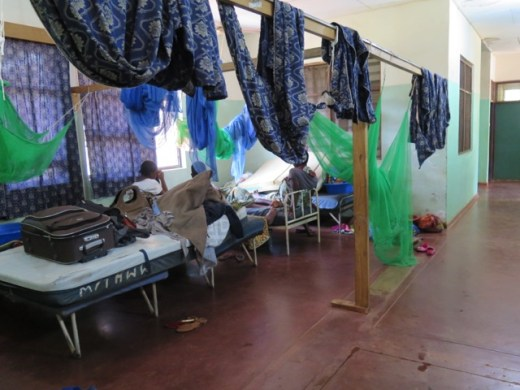 The current antenatal 'waiting area'