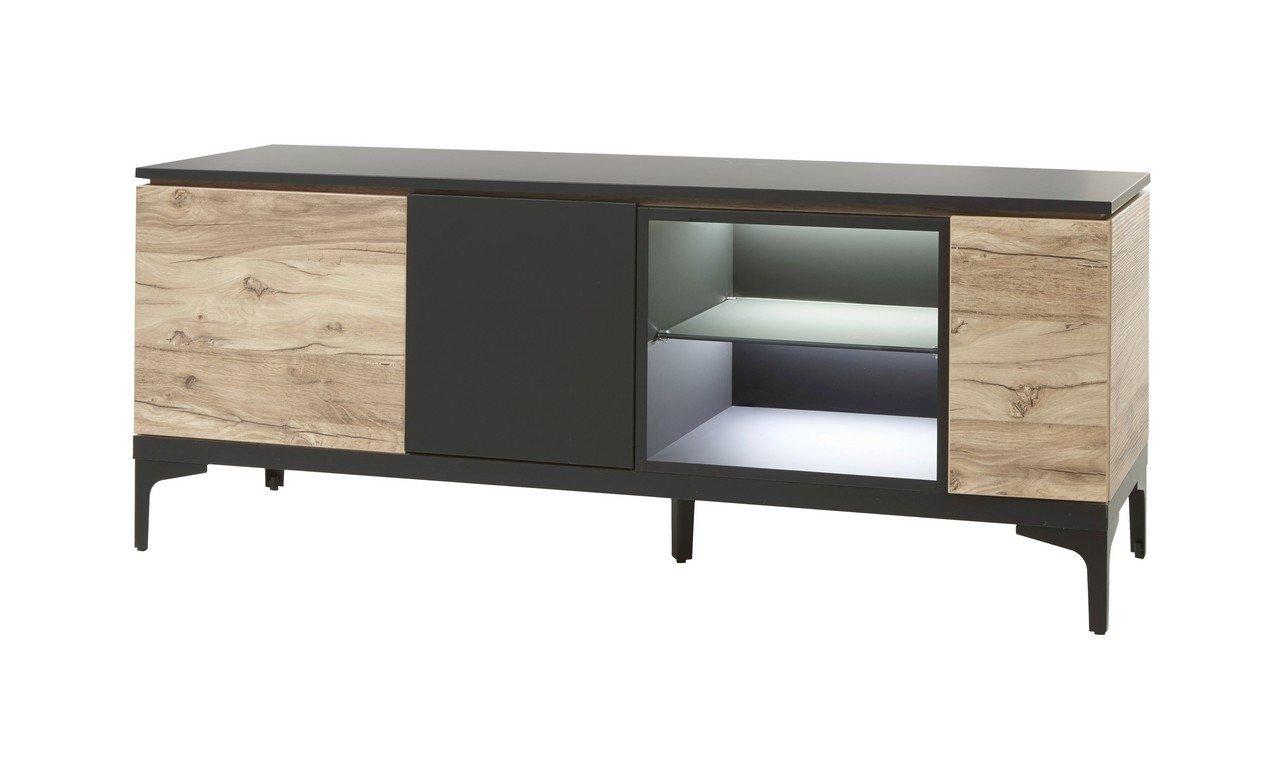 banc tv noir et coloris chene moderne allure