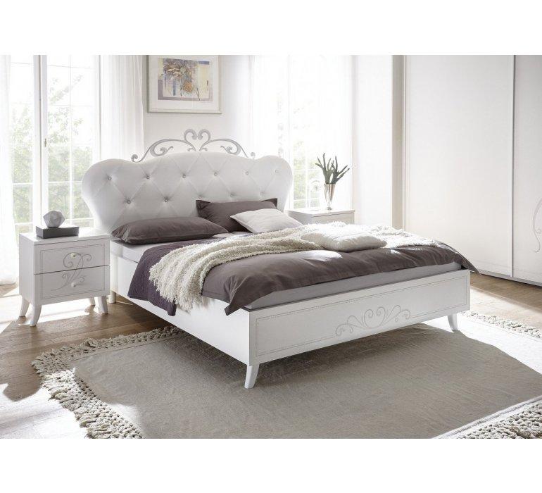 lit capitonne blanc laque moderne queen