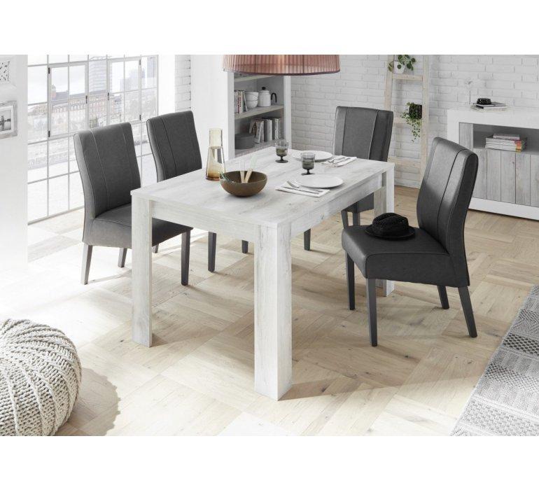 table a manger bois gris clair moderne san remo