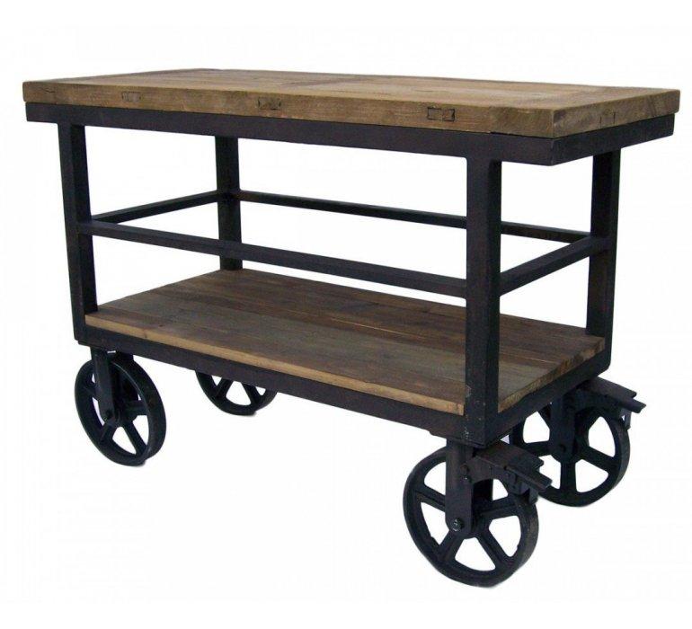 bar industriel sur roulettes wheel