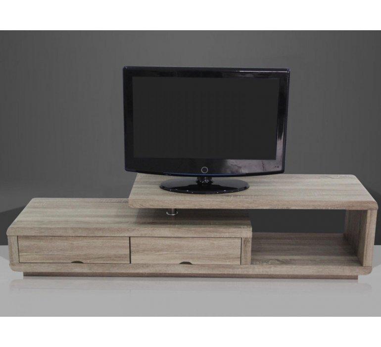 meuble tv coloris chene moderne celia