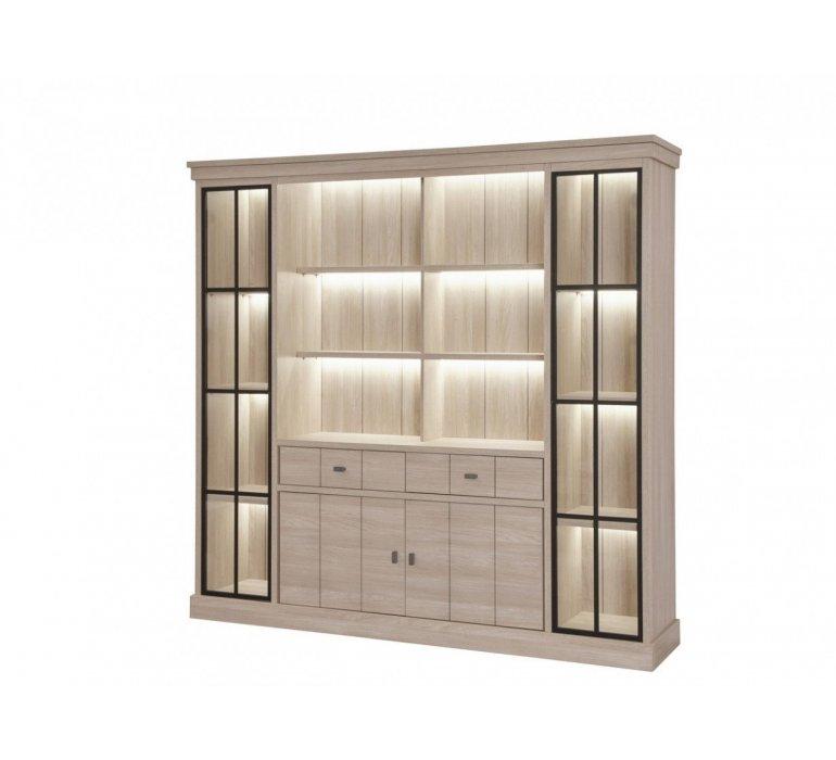 bibliotheque contemporaine bois clair fanny