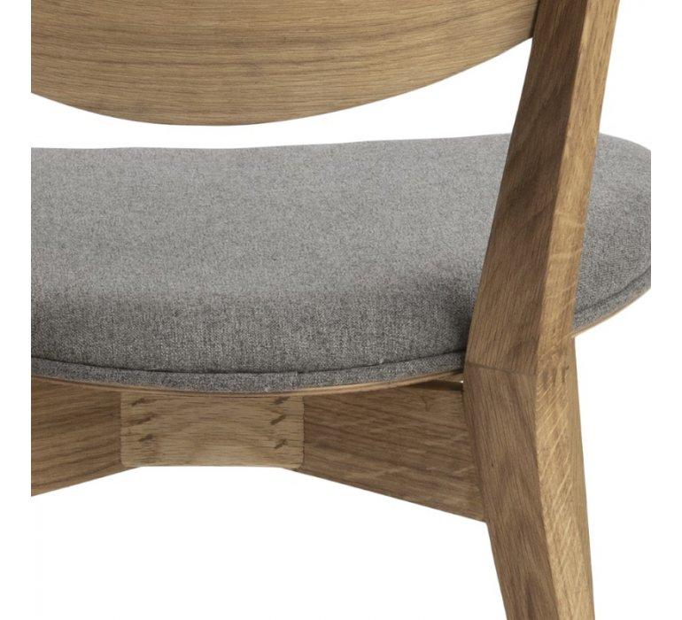 chaise scandinave bois et tissu lot de 2 bilboa