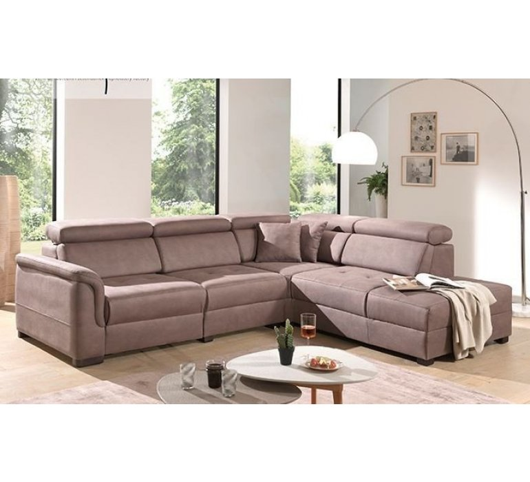 canape d angle de relaxation en tissu taupe topino