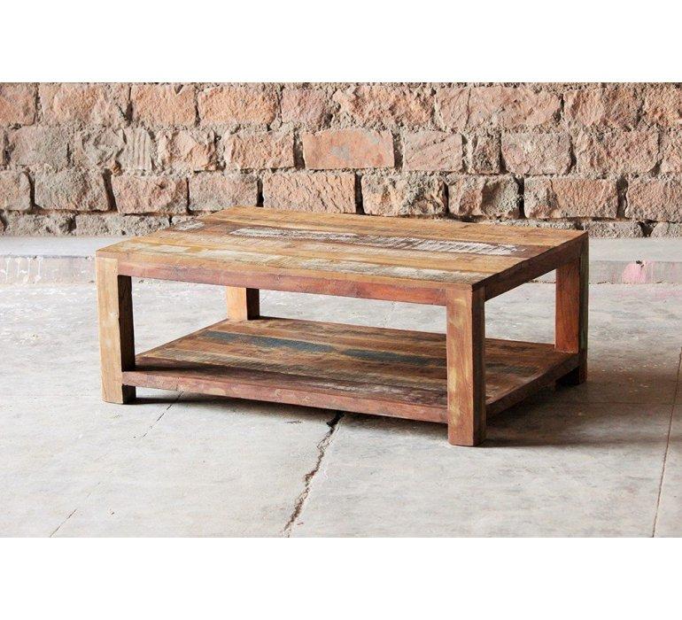 table basse bois massif style exotique maldives