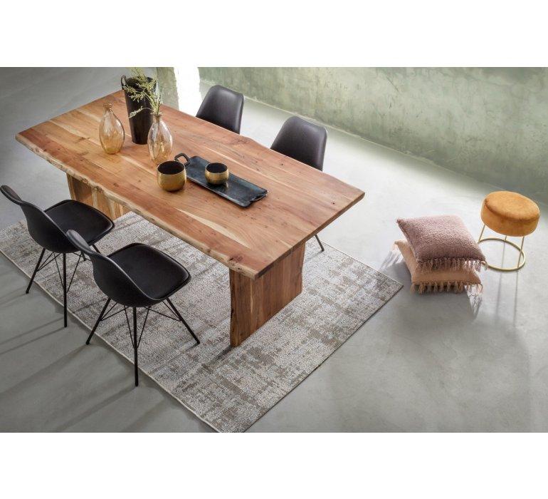 table a manger bois massif scandinave effet tronc d arbre tradborj