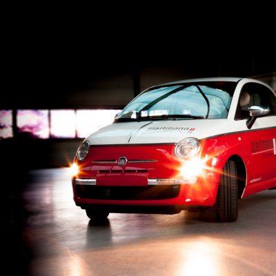 Belettering ~ Carwrap Fiat 500 Waltmann Makelaardij