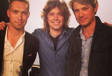 Hanson behind the scenes at MTV's 'O Music Awards', 2013