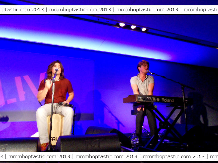 Hanson at Apple store in London 2nd December 2013