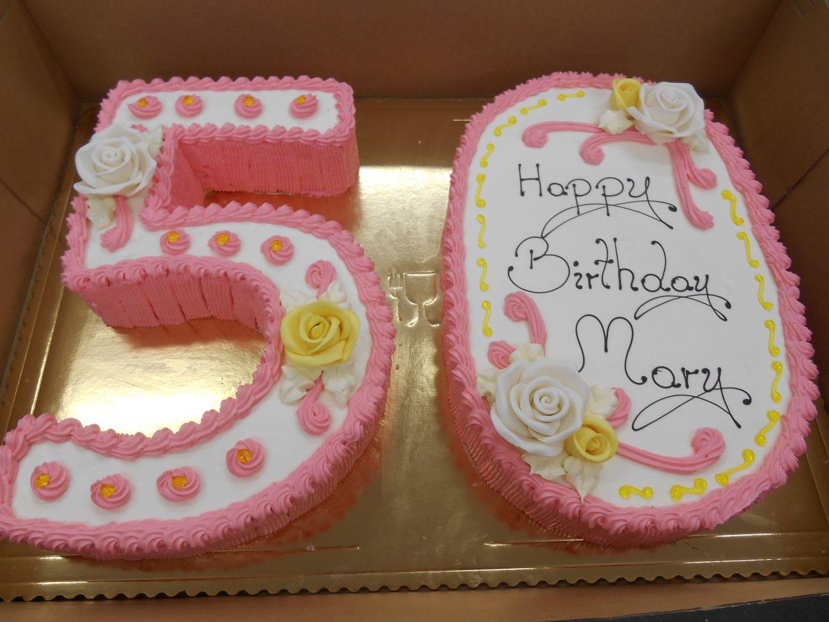 Number shape birthday cake