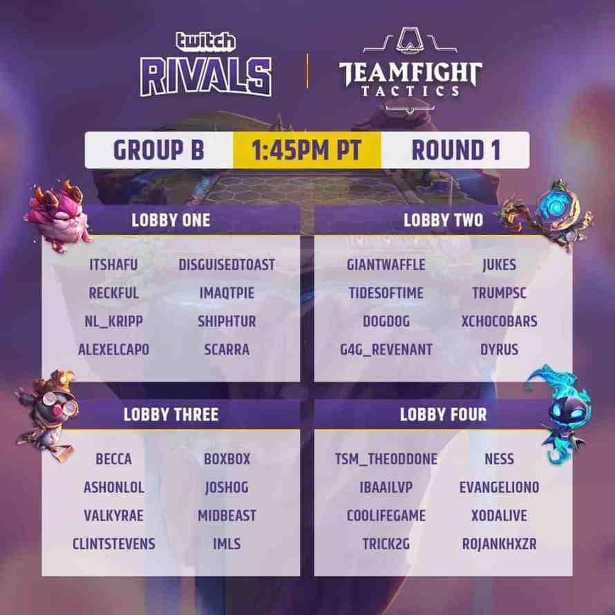 Twitch Rivals: Teamfight Tactics