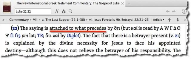 Luke 22:21 The New International Greek Testament Commentary - On the Path blog by Cheryl Schatz