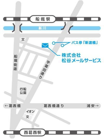 株式会社松谷メールサービス 周辺地図