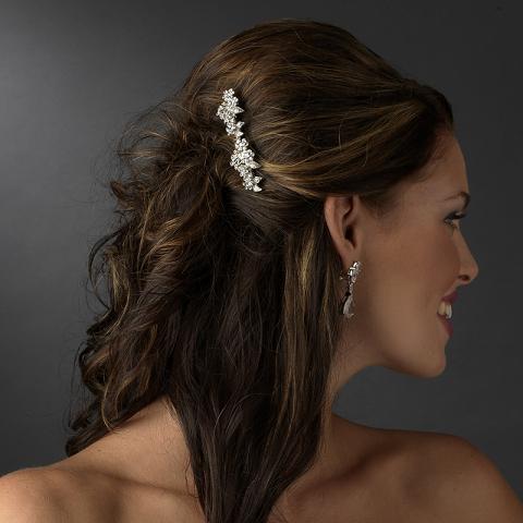 charming antique silver floral hair b