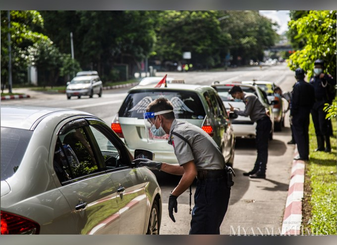 Yangon officials start inspecting QR codes of cars, people allowed to travel   The Myanmar Times