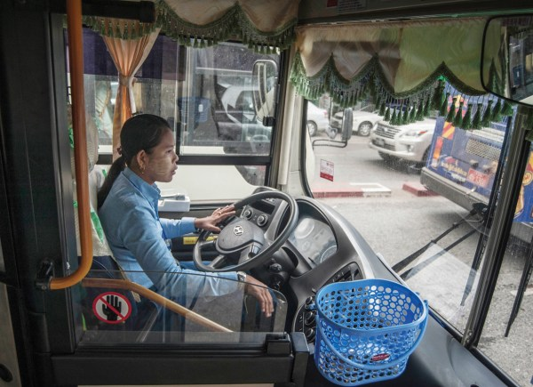 The only female bus driver, for now   The Myanmar Times