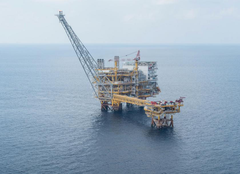 An offshore platform at Zawtika, Moattama Gulf. Photo - Supplied