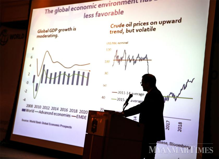 The Myanmar economy is expected to grow at 6.2pc this year. Aung Myin Ye Zaw/The Myanmar Times