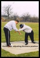 Kevin Toth adjusting thrower's position