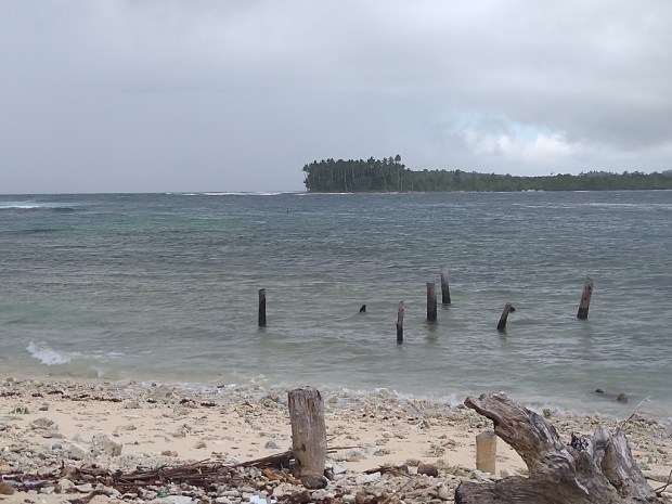 The remains of Fanalei Island