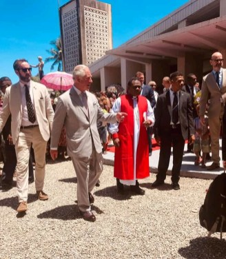 After the Service at St Barnabas Cathedral [Photo - Alex Waimora]