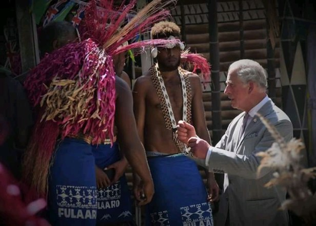 Prince Charles in Honiara, Solomon Islands
