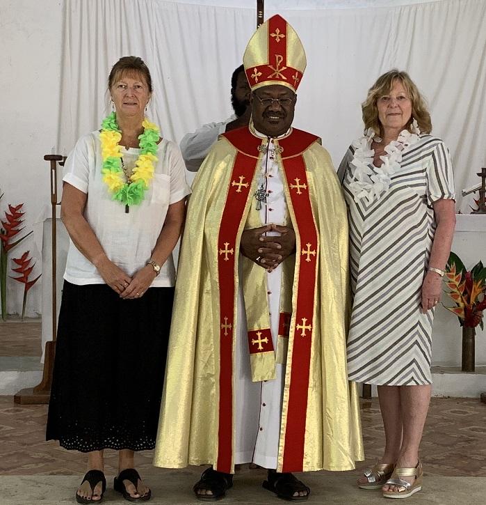 Cate Edmonds, Rt Rev James Tama Bishop of Vanuatu and New Caledonia and Daphne Jordon