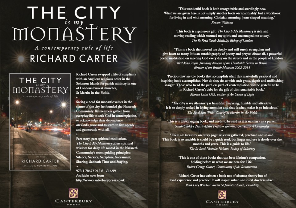 The City is my Monastery: A Contemporary Rule of Life - Richard Carter