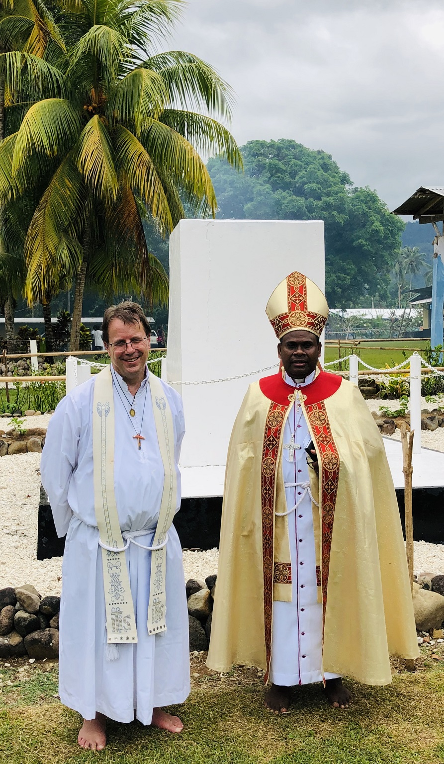 Richard Cater and Most Reverend Leonard Dawea