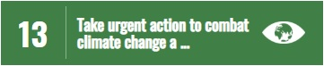 SDG13 - Take urgent action to combat climate change and its impacts