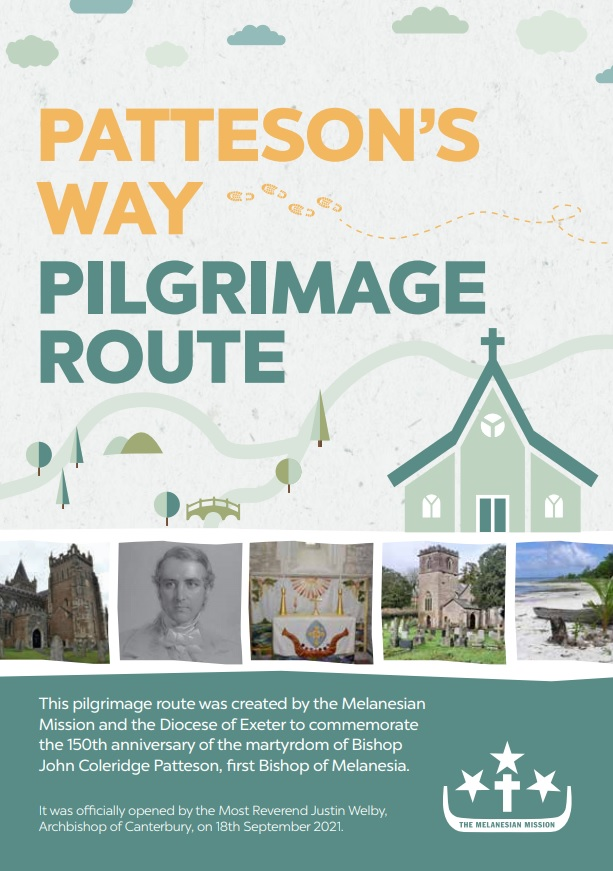 Patteson's Way Pilgrimage Route Leaflet Front Cover