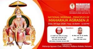 National Webinar – Principles of Maharaja Agrasen Ji